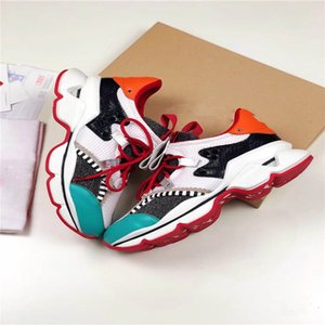 2019 Designer de sapatos de Spike Sock Donna Red Runner Donna Studded Spikes sapatilhas vermelhas inferior das mulheres dos homens Spikes Formação Shoes G6