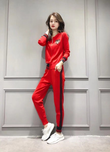New women's suit long-sleeved trousers spring must-have fashion wild two-piece redto