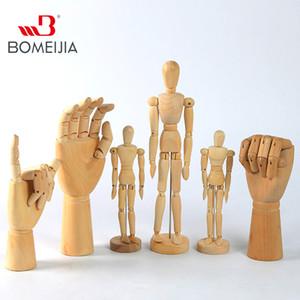 Hölzerne Hand Man Holz Zeichnung SKETCH Mannequin Modle Künstler Movable Limbs menschliche männliche Miniatures Figuren Dekoration Crafts