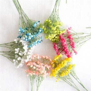 """Поддельные один стебель Гипсофила 24,8 """" длина моделирования пластиковые Babysbreath для свадьбы главная витрина декоративные искусственные цветы"""