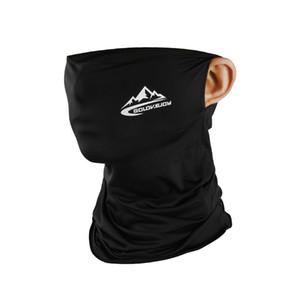 Máscara verano ciclismo mitad de la cara de seda del hielo fresco de deportes al aire libre de la bufanda transpirable Ciclismo máscara anti-UV de mascarillas de protección Pesca engranaje CCA12110