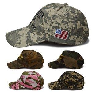 Donald Trump 2020 Şapka Nakış Spor Kamuflaj Beyzbol şapkası Başkanı Trump Seçim Cap Parti Şapka ZZA2129