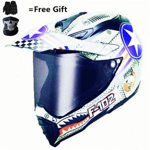 DOT EUA SDU ADULTO capacete para bicicleta Dirtbike ATV Motocross MX Offroad Motorcyle Rua Snowmobile capacete com viseira (Medium, S