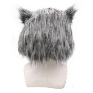 Inosuke Hashibira Maske Kask Demon Slayer Kimetsu Yok Yaiba Cosplay Hood Saç Domuz Maske Şapkalar Cadılar Bayramı Karnaval Kostüm Prop