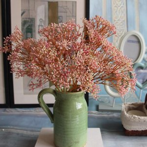 7 couleurs de fleurs artificielles Faux Breath bébé Gypsophila Bouquet Arrangement de mariage Décoration Faux plante