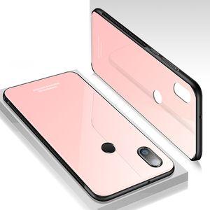 Для Xiaomi Redmi Note 4 5 4X 5A 5Plus 5 Pro 6 Pro Case роскошные закаленное стекло Силиконовая рамка жесткий чехол