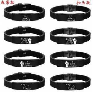 2020 I CAN 'T BREATHE Bracelet silicone black stainless steel BREATHE OPP Bag Fighting Fighting Free