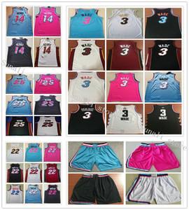 Genähte Männer 2019 neue Art-Dwyane Wade 3 Jersey Tyler Herro 14 Jimmy 22 Kendrick Nunn 25 Butler Jerseys Basketball College-Shirts
