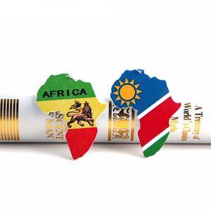 New Designer Jóias Mapas africanos Madeira Brincos Dangle impressão Letras de madeira Brinco Pingente encanto Ear Gancho Eardrop Mulheres Declaração de presentes