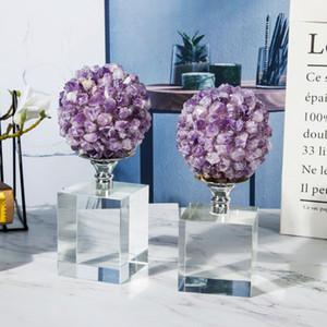 groupe cristal décoration maison balle légère et accessoires de maison luxueux améthyste étude de salon décorations haut de gamme