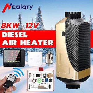 HCalory 12V 8KW Auto Diesel Luftstandheizung Auto Heizung LCD Steuerung Remote Monitor Switch + für LKW Bus Trailer