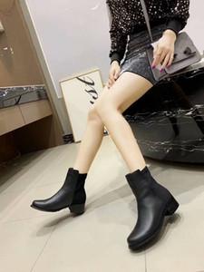 Hot Sale-Well Stivaletti Stilista di moda con tacco alto Stivali Vera Pelle Monogram Canvas Croce cinghie a punta le dita dei piedi di modo delle signore Stivali