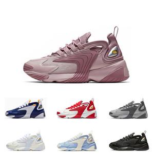 Nike Zoom M2K Púrpura Cremoso Blanco Triple Negro M2k Tekno Zoom 2K Zapatillas de running para hombres mujeres Royal Blue deporte zapatillas de deporte al aire libre tamaños 36-45