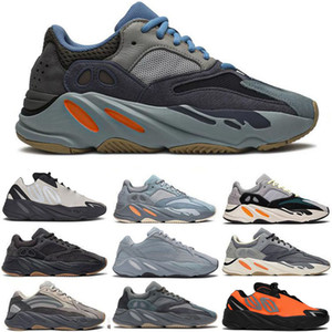 Teal Blue Carbono ímã Tephra YEEZY BOOST 700 V2 Runner Meninas Osso Mens Running Shoes Vanta estática Sal Analog Geode malva Inércia Sports Sneakers 28-46