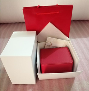 2020 L uxury Новая площадь Красный для Box Часы Буклет Card Ключевые слова и документы На английском языке Часы Box Оригинал Inner Outer Мужчины наручные часы Box
