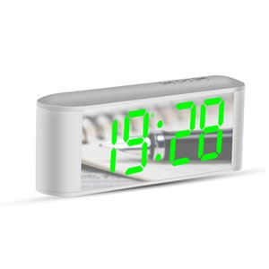 Table De Bureau Horloge Numérique Grand Led Affichage De La Température Snooze Nouvelle Maison Led Horloges De Miroir Électronique Avec Thermomètre Creactive Y19062103
