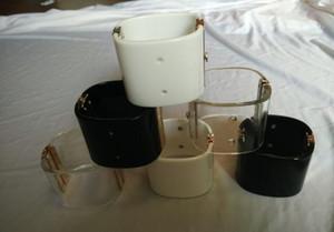 femminili delle signore delle donne di lusso punk DJ esagerato acrilici grandi braccialetti logo Wristband polsini bracciali libero 6colors di spedizione
