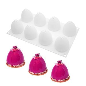 Huevo de Pascua 3D torta de la forma del molde de silicona para hornear trufa Mousse moldes de dulces de chocolate Postre helado de la jalea del molde JK2001
