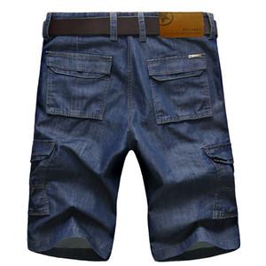 ICPANS Casual Short Mens Cargo Denim Shorts Jeans Ropa Bermudas Verano Algodón Shorts Transpirable Denim