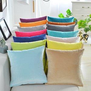 Mode solide 45x45cm Taie Accueil Canapé Décor de haute qualité housses de coussin souple Pillowcases bon marché Pillow Covers Livraison gratuite