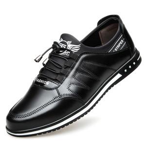 Мужская обувь из натуральной кожи повседневная мода низкая шнуровка брендовая обувь из воловьей кожи квартиры Zapatillas Hombre Мужская обувь для вождения