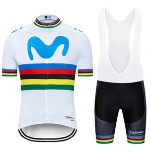 NEW 2020 MOVISTAR велосипедного Ropa Ciclismo MENS лето КОМАНДА Bicycling Майо Дно износ Джерси велосипед шорт быстро сухие профи