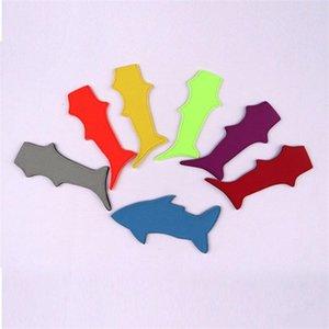 Helado de la manga para la forma del tiburón del medio ambiente Color puro Soporte para paletas de neopreno Pop Titulares Herramientas Venta caliente