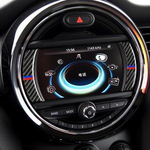 Pantalla de fibra de carbono de mando interior vinilo decorativo de coches Accesorios de modificación para BMW Mini Cooper F54 F60 F55 F56