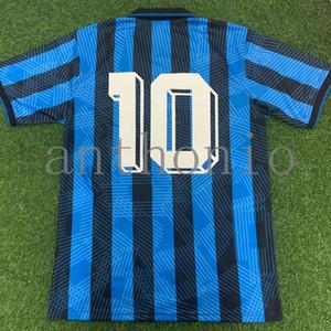 Top 1991/92 Atalanta Retro CANIGGIA Stromberg Paulino camisetas de futbol kits uniformes de football maillot de football maillots de football de qualité thaïlande