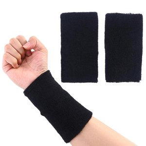 1 Paar Sport Armbänder Baumwolle Weiche Schweißband Armschienen für Tennis Basketball Laufen Gym Sport Zubehör