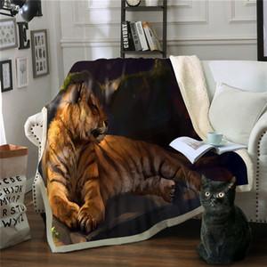Couverture Polaire Tiger Manta Canapé Jeté Couverture Polaire Deken Couvertures Pour Lits Cobertores Sommeil Manta Polar Drop Shipping