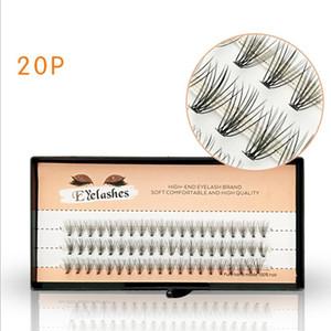0,10 C 20P Flare Kirpikler Doğal Yumuşak Güzel Silier Kullanım Tek Tesisi 60 Kümeler Yanlış Eyelashes