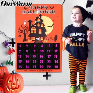оптовые Хэллоуин украшения Обратный отсчет календаря висячие украшения для дома и офиса Декор стены Halloween Countdown Sig 60x90cm