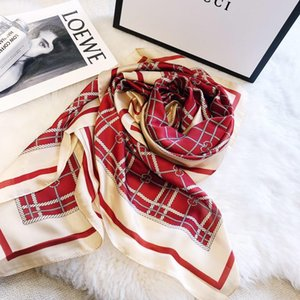 Дизайнер высокого класса Ms. Новейший классический бренд Silk Scarf Высококачественный красивый чистый шелковый шарф Мягкий и удобный