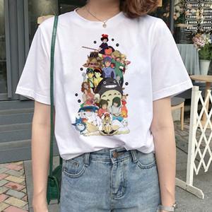 Тоторо Дух Away тенниска Studio Ghibli Femme японских мультфильмов аниме женщин тенниску тенниска Миядзаки Хаяо одежда женский Kawaii