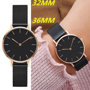 2019 Inicio de lujo de moda Daniel mujeres hombres de Wellington dw mujeres de los amantes de malla de acero para hombre Relojes de oro de la marca relojes Montre femme
