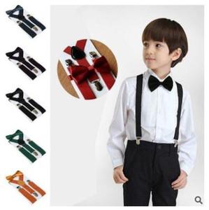 Élastiques Ceintures enfants Bretelles réglables Noeud papillon Accolades Ensembles bébé pince élastique au dos Garçons Filles Suspenders Accessoires D15 Suspenders