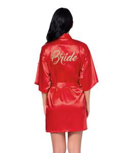 QWEEK Сексуальная невеста халат лето атласная женщины пижамы твердые женщины халаты тонкий короткий шелковый халат элегантный Атлас свадебные халаты платье