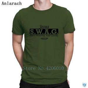 Jesus Ganhos T-shirt Printing Cotton masculino cómico Camiseta Para Pictures homens famosos Grande Anlarach