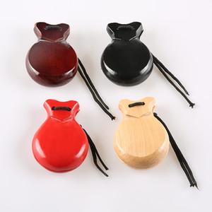 Orff percussioni strumento musicale flamenco / fenicottero hard dance nacchere in legno massello spagnoli nacchere in legno