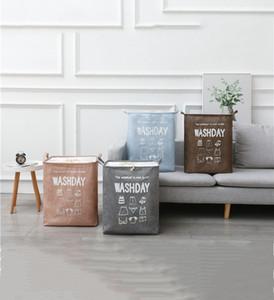Large Laundry Basket Collapsible Fabric Laundry Hamper Foldable Clothes Bag Folding Washing Bin
