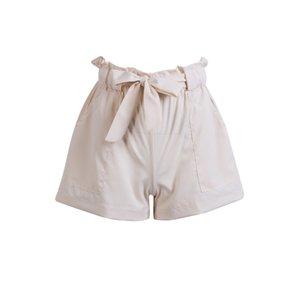 Frauen beiläufige Art und Weise Sommer-hohe Taillen-Schärpen feste gerade Baumwoll elastische Taillen-Crepe Hot Shorts Mini Shorts 4 Style