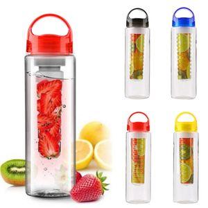 700ml BPA Free Fruit Infuser Juice Shaker Sports Lemon Water Bottle Tour Hiking Climbing Camp Bottles Water Bottle Kids
