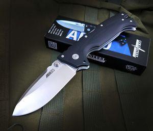 Высокое качество OEM Холодное AD-10 Tactical Складной нож S35VN каплепадения сатин лезвия Черный G10 + нержавеющая сталь лист Ручка с розницей