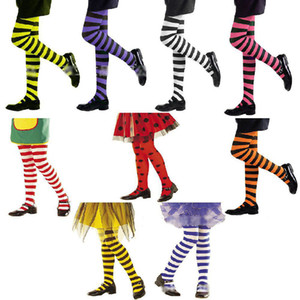 Осень детские колготки в полоску колготки хэллоуин ролевые игры косплей полосатые чулки для детей рождественские сиамские колготки леггинсы M359