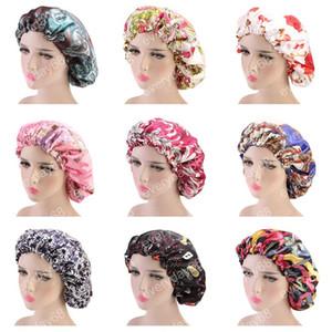Donne Doppio strato di seta DU-RAG copertura dei capelli accessori onda Caps stracci floreale cofano Salone cappello turbante Durag Doo rag Headwrap