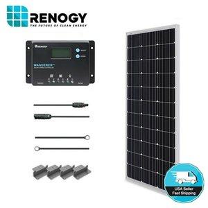 Renogy 100W 12V mono Panel Starter Kit w / 10A LCD regolatore di carica solare