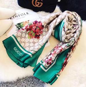 2019 marchio di lusso di alta qualità sciarpa sciarpa dono famosa signora modello lettera progettista di seta formato 180x90cm lunga sciarpa 100%