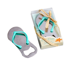 20pcs Lot Classic Creative Wedding Favors Party Back Gifts for Guests 2019 Flip-Flops Beer Bottle Opener Decorations By DHL