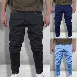 2019 nouveaux hommes Casual stretch Skinny Jeans Pantalons Pantalons Jeans Tight solide Hommes Color Marque Hommes Designer